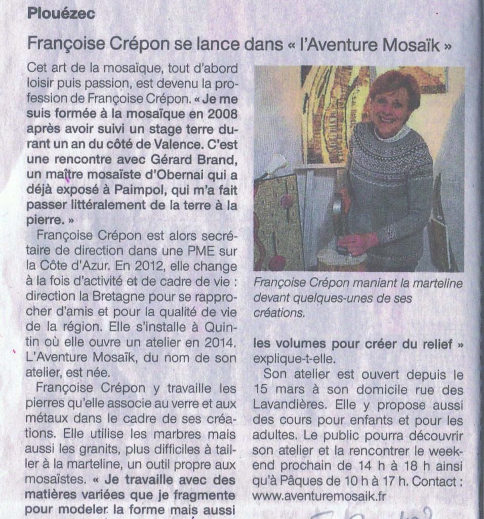 Ouest France 20/03/2018